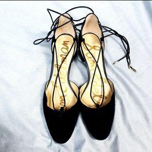 Sam Edelman Black Strappy Chunky Heel Shoe